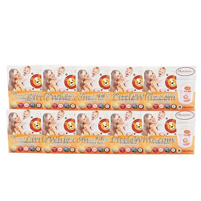 Autumnz: Double Zip Lock Breastmilk Storage Bags 10oz - 28pcs (10 BOXES)