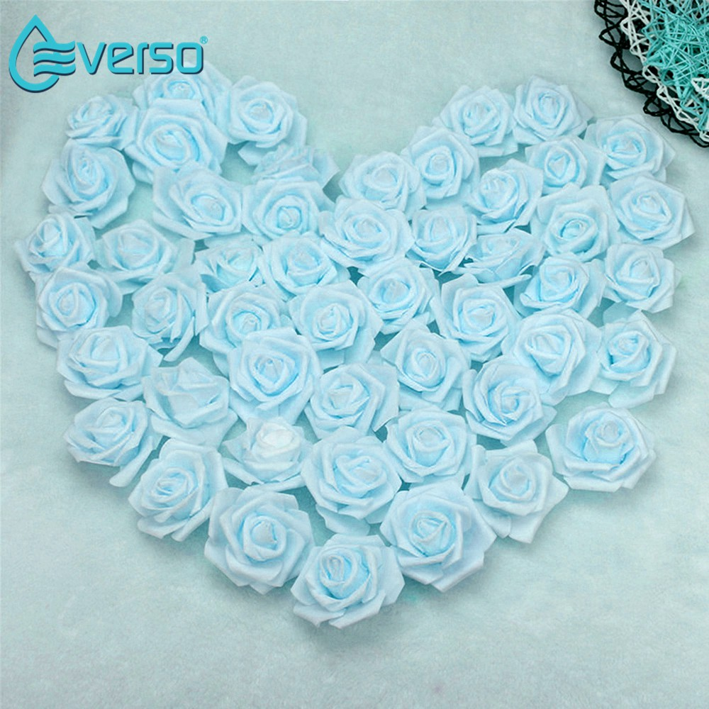 100 Rose Heads Artificial Flowers Wedding Bride Bouquet Party Decor DIY