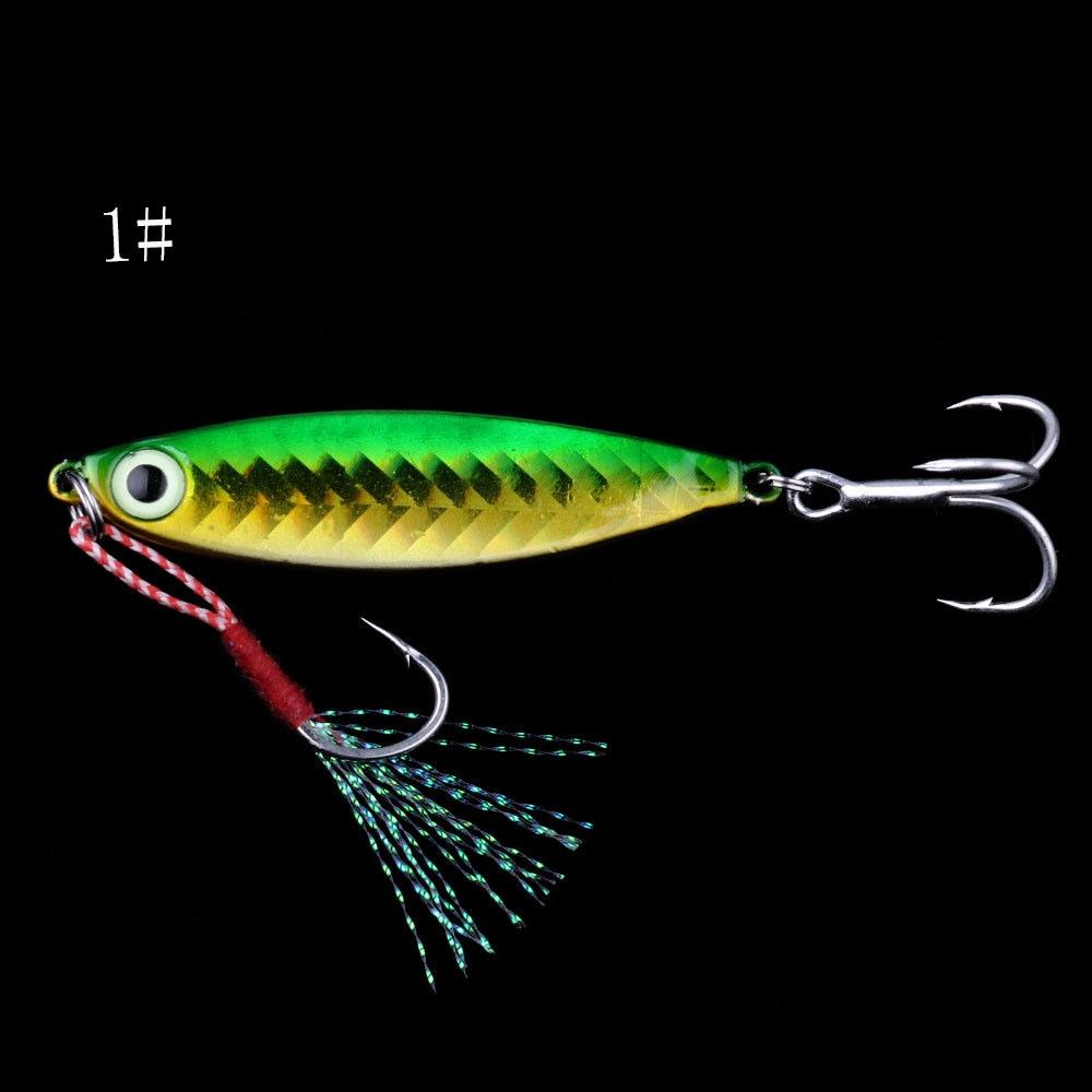 Soft Plastic Lures Lures Espeedy 7 Pcs Fishing Lures Jig Metal Bait Fish Tackle 7cm 6# Hooks Crankbait