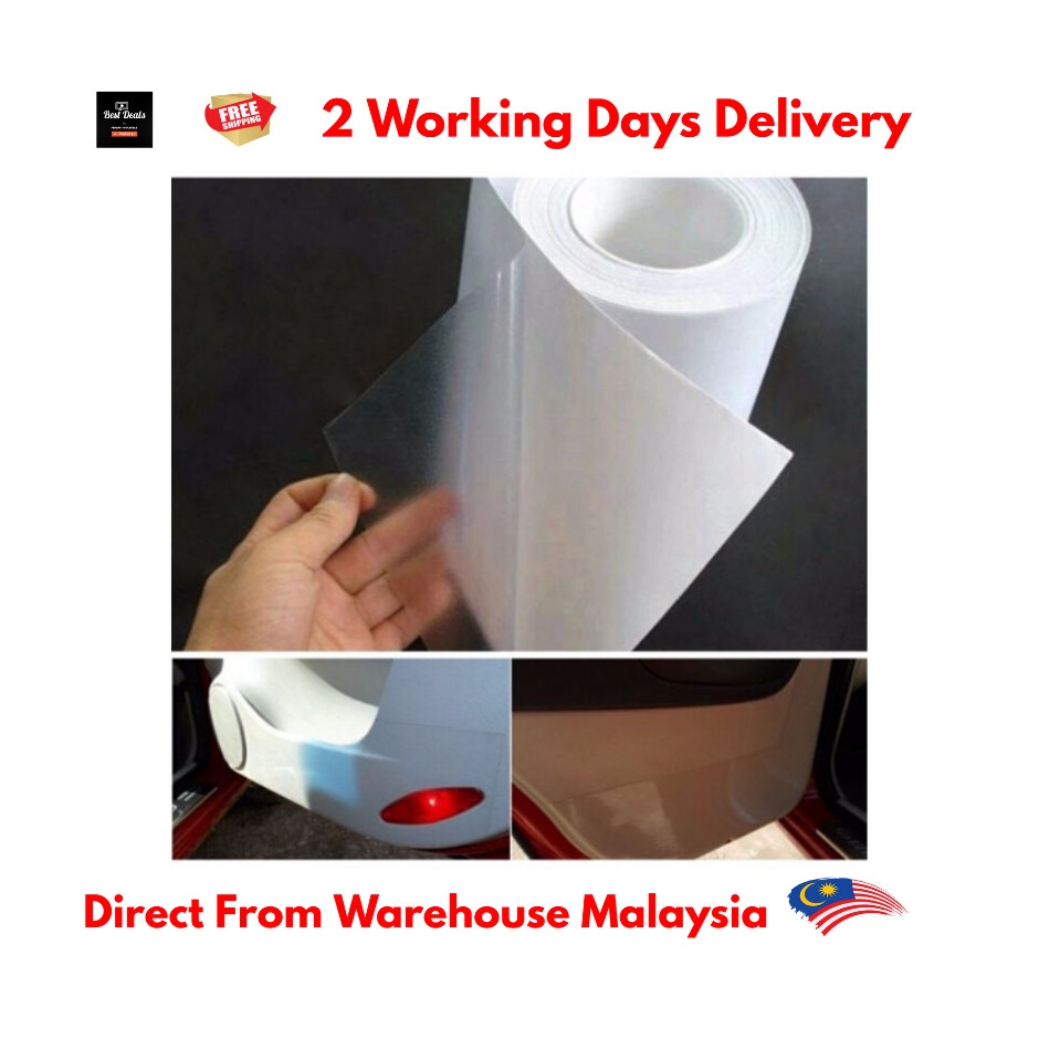 "Clear 3M Protective Gloss Transparent Adhesive Film Vinyl Decal Sheet 4/"" Rolls"