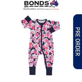 Rose Garden Pink Bonds Zip Wondersuit