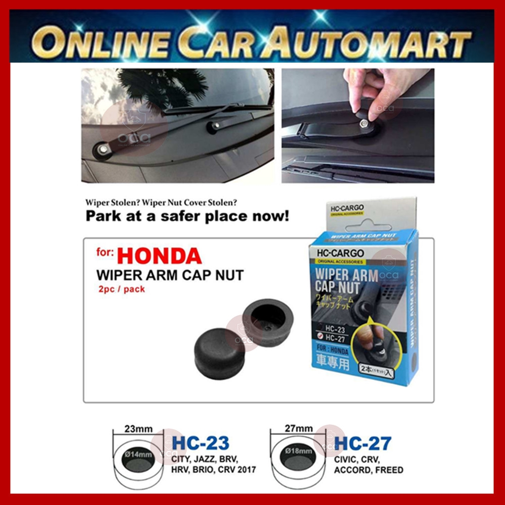Wiper Arm Cap Nut / Cover Fix For Honda City,Jazz,Hrv,Brio,Civic,CRV,Accord,Freed