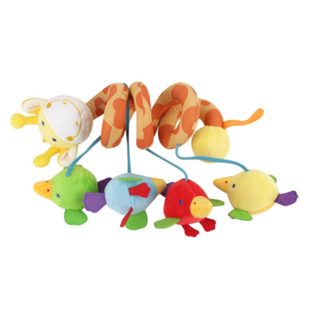 Kids Spiral Giraffe Hanging Toy with Music/Sound for Crib Bed Stroller  Pushchair