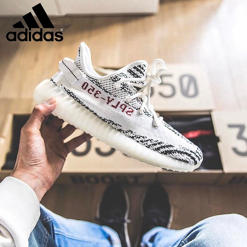 20c653608956e Ready Stock original Adidas Yeezy 350 Boost V2 sport zebra running shoes  WHITE