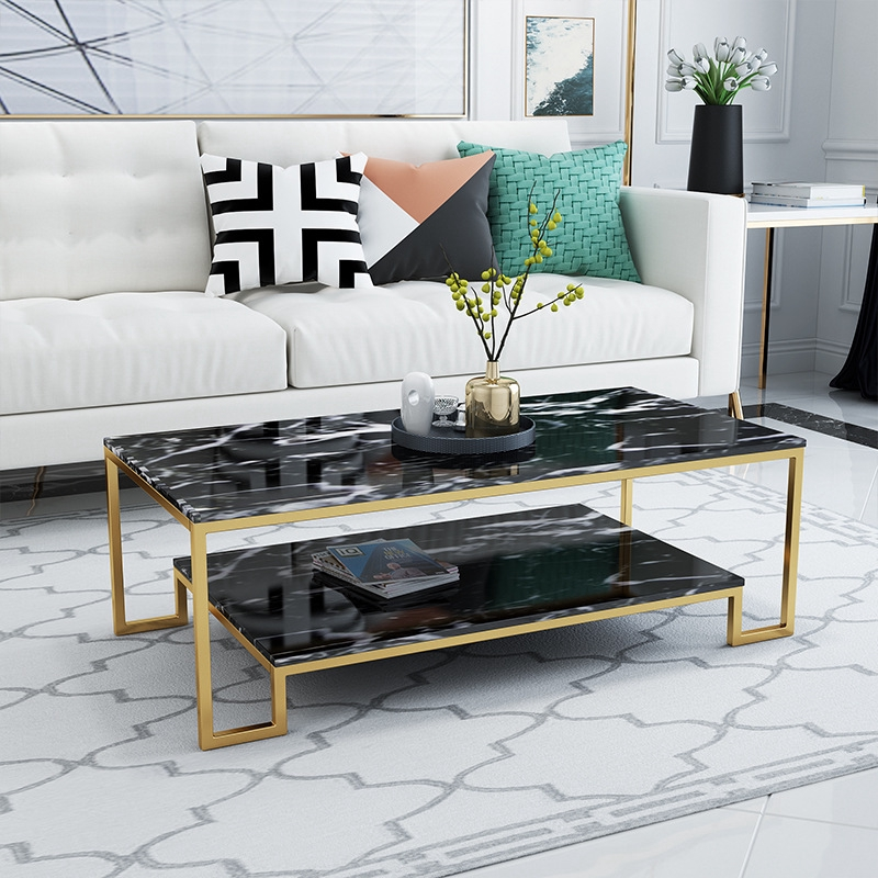 Simple Marble Coffee Table Modern Glass Coffee Table Sofa Table Living Room Coffee Table Shopee Malaysia
