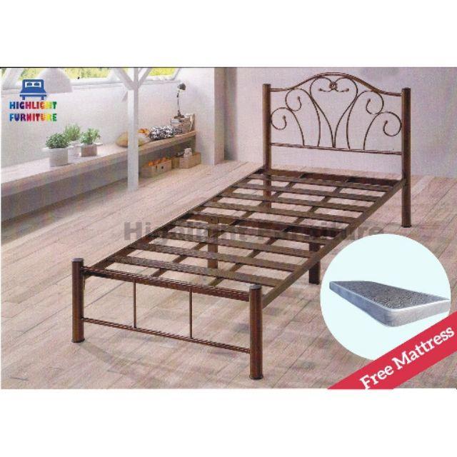 Ikea Katil Besi Super Base Single Size