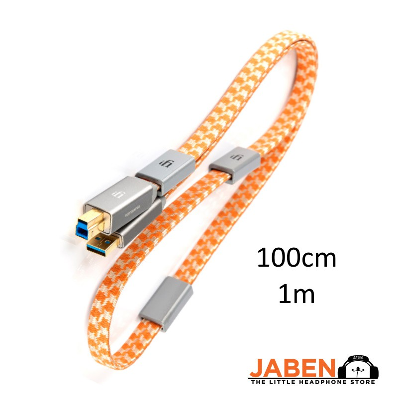 iFi Mercury 3.0 Premium  24 + 28 AWG USB 3.0 Type-A to Type-B Upgrade Cable for DAC [Jaben]