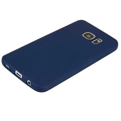 TPU Case for Samsung Galaxy S7 Edge Candy Color Silicone Cover (BLUE)