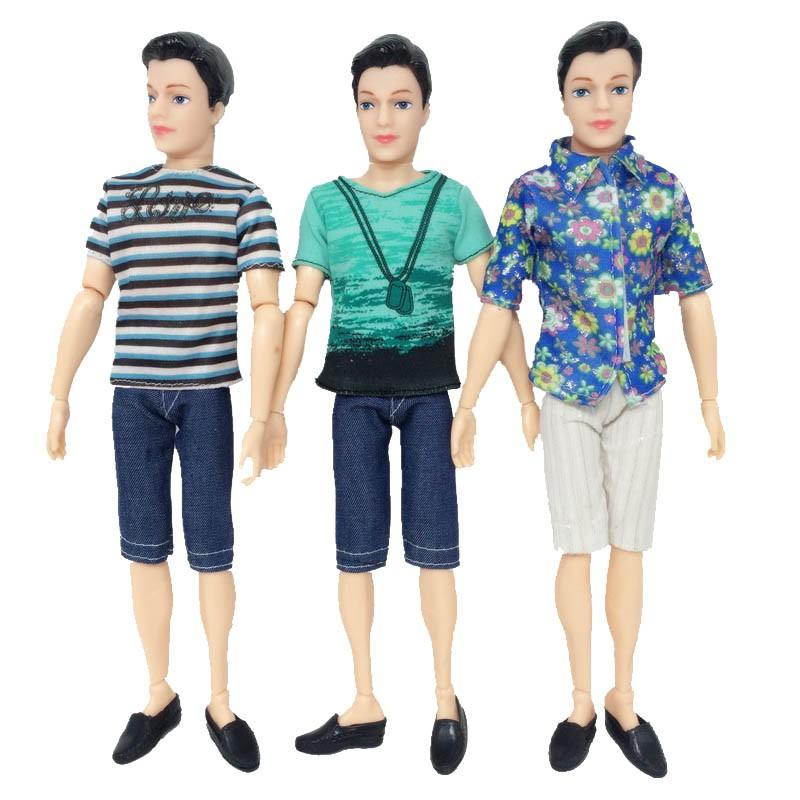 afea74abd588a 3sets T-Shirt + Jeans Pants Short For Barbie's Boyfriend Ken Doll Casual  Clothes