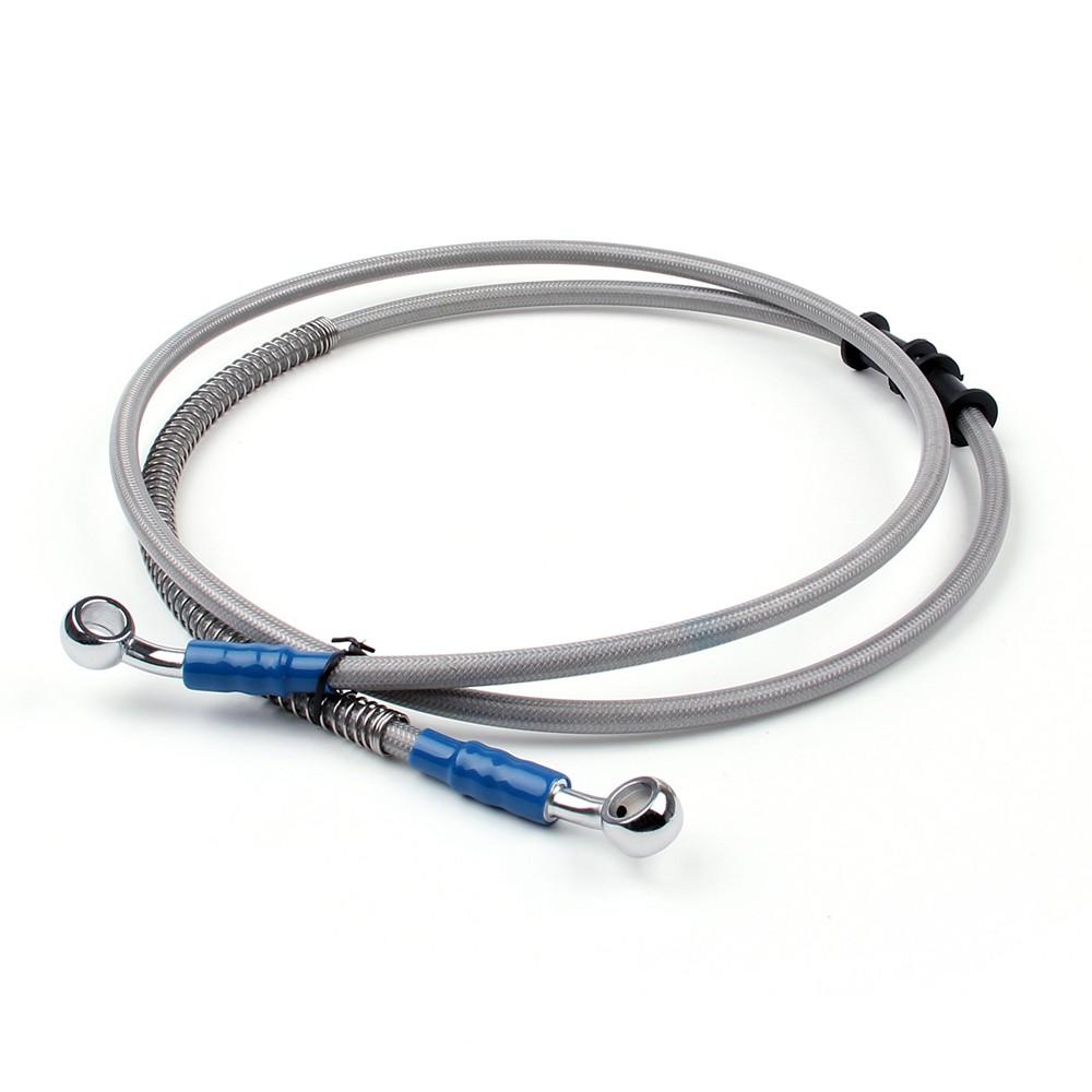 """140cm//55/"""" Brake Oil Hose Line Banjo Fitting Stainless Steel Braided Universal"""