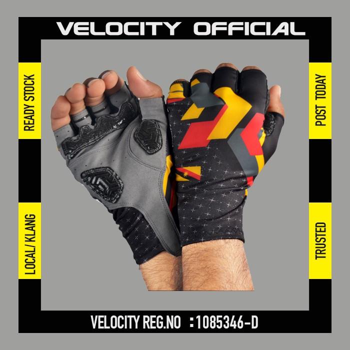 Cycling Glove Gel Velocity Gloves SARAWAK Half Finger Glove UV Protection Glove Stretchable Glove