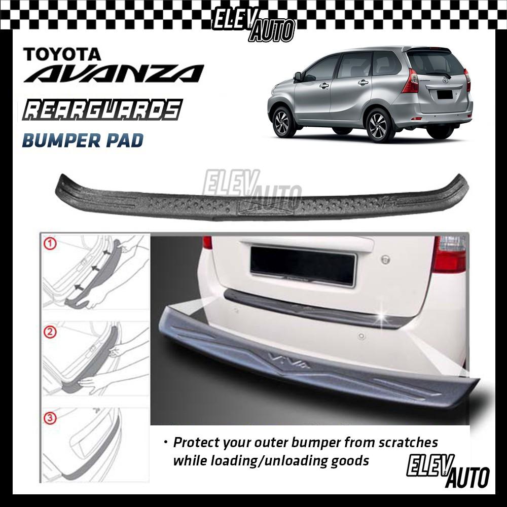 Toyota Avanza MATTE BLACK Rear Bumper Guard Bumper Pad
