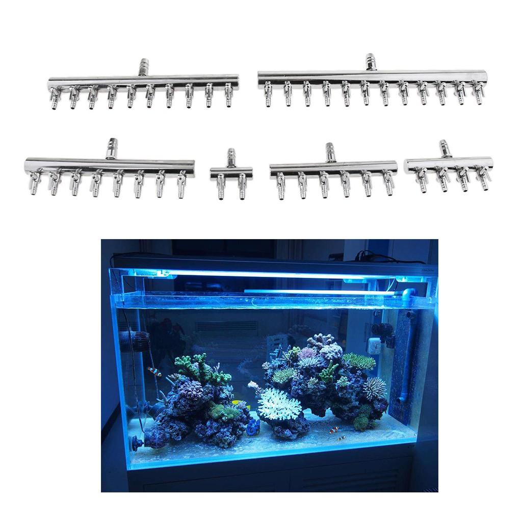 e24761d6964d 8mm to 4mm Aquarium Stainless Steel Air Splitter Pump Switch control Flow  Valve
