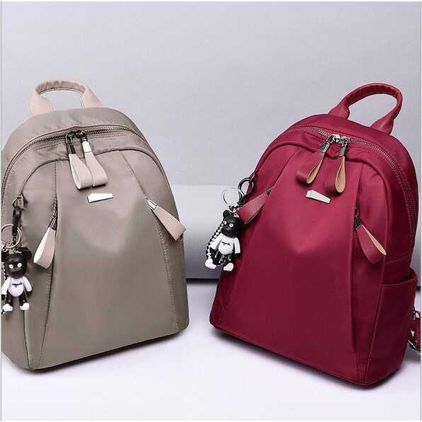 1587198e145 READY STOCK💕 Korean MS 3ZIP Backpack Bags Shoulder Bag Beg Travel Bag Pack  Headphones Hole Big Bag Anti Thief Bags