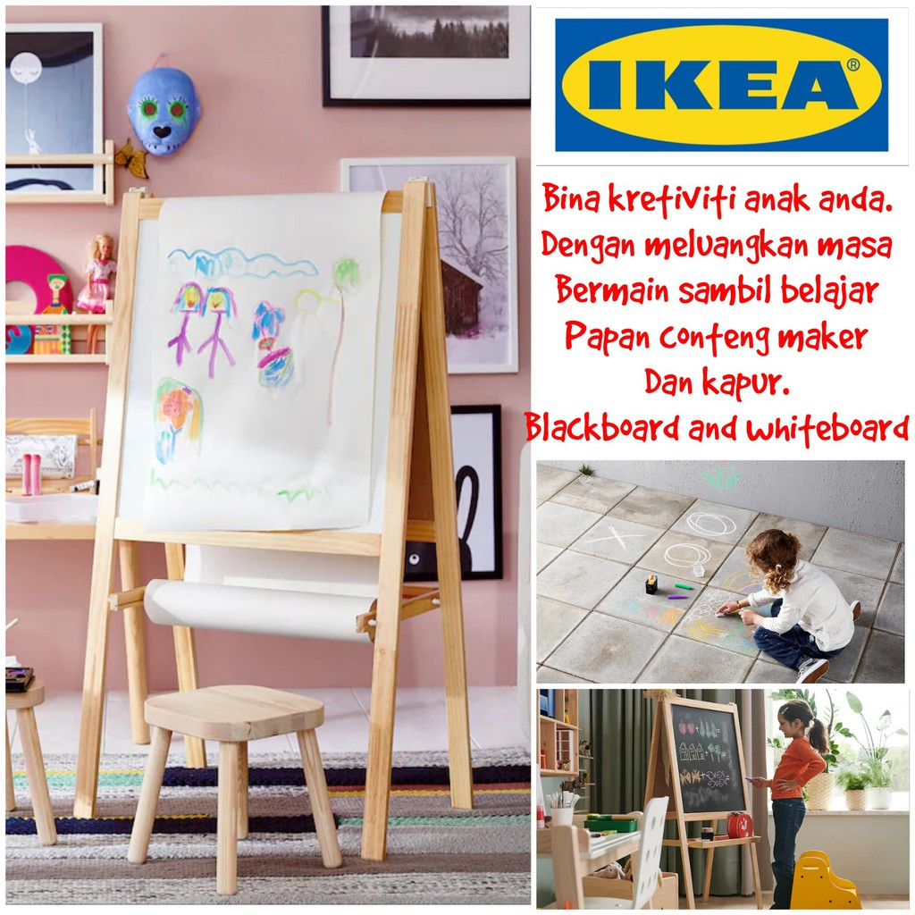 Blackboard And Whiteboard Stand Ikea Papan Hitam Putih Ikea Shopee Malaysia