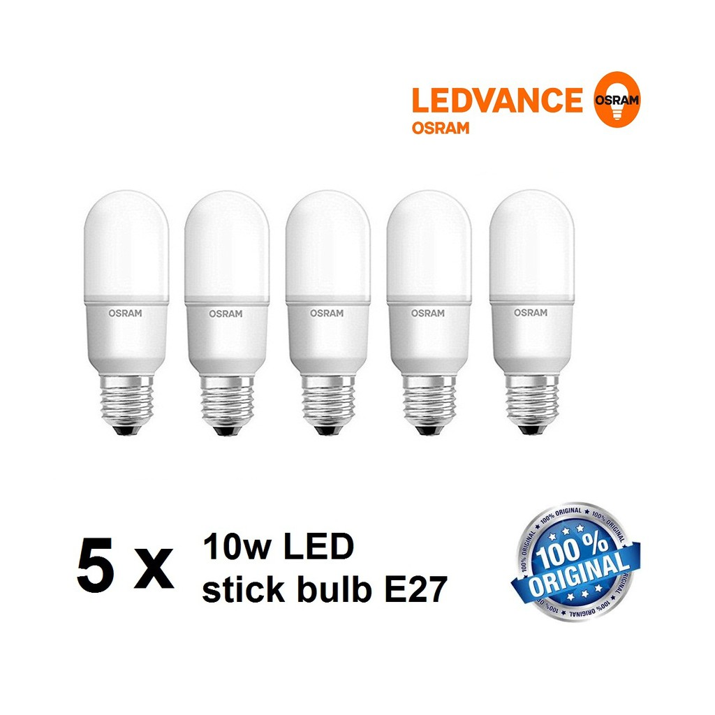 5pcs Stick X 10w Led Bulb 6500k Ledvance Daylight E27 Osram jLqA3Rc54