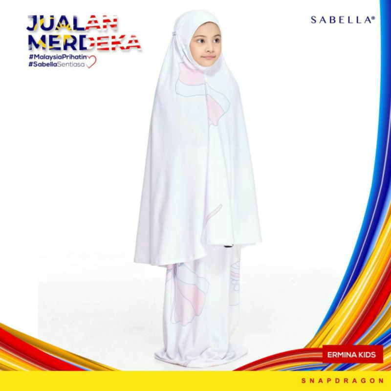 Sabella Ermina Telekung Kids (Ready Stock)