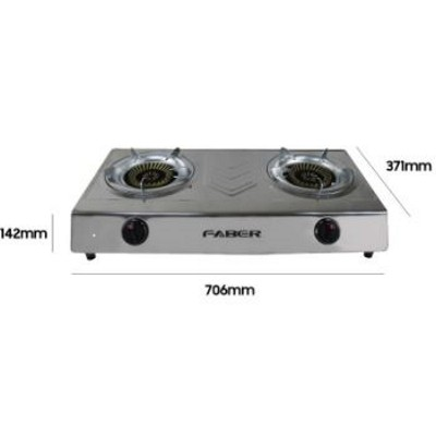 Faber (2 Burner) Stainless Steel Gas Stove Gas Cooker FS CASA 1212