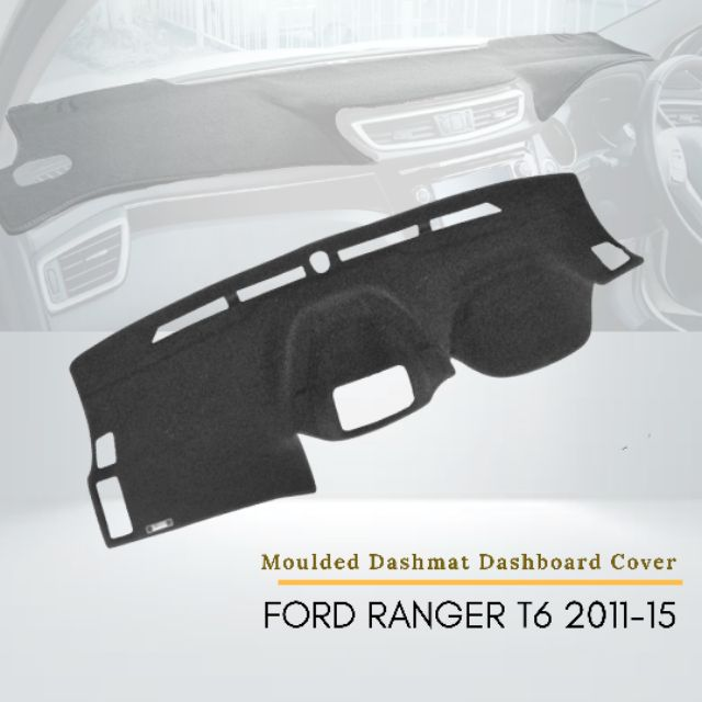 Ford Ranger T6 2011-2015 Car Instrument Panel Pad Instrument Panel Light-Proof Pad Cover Dashboard Cover