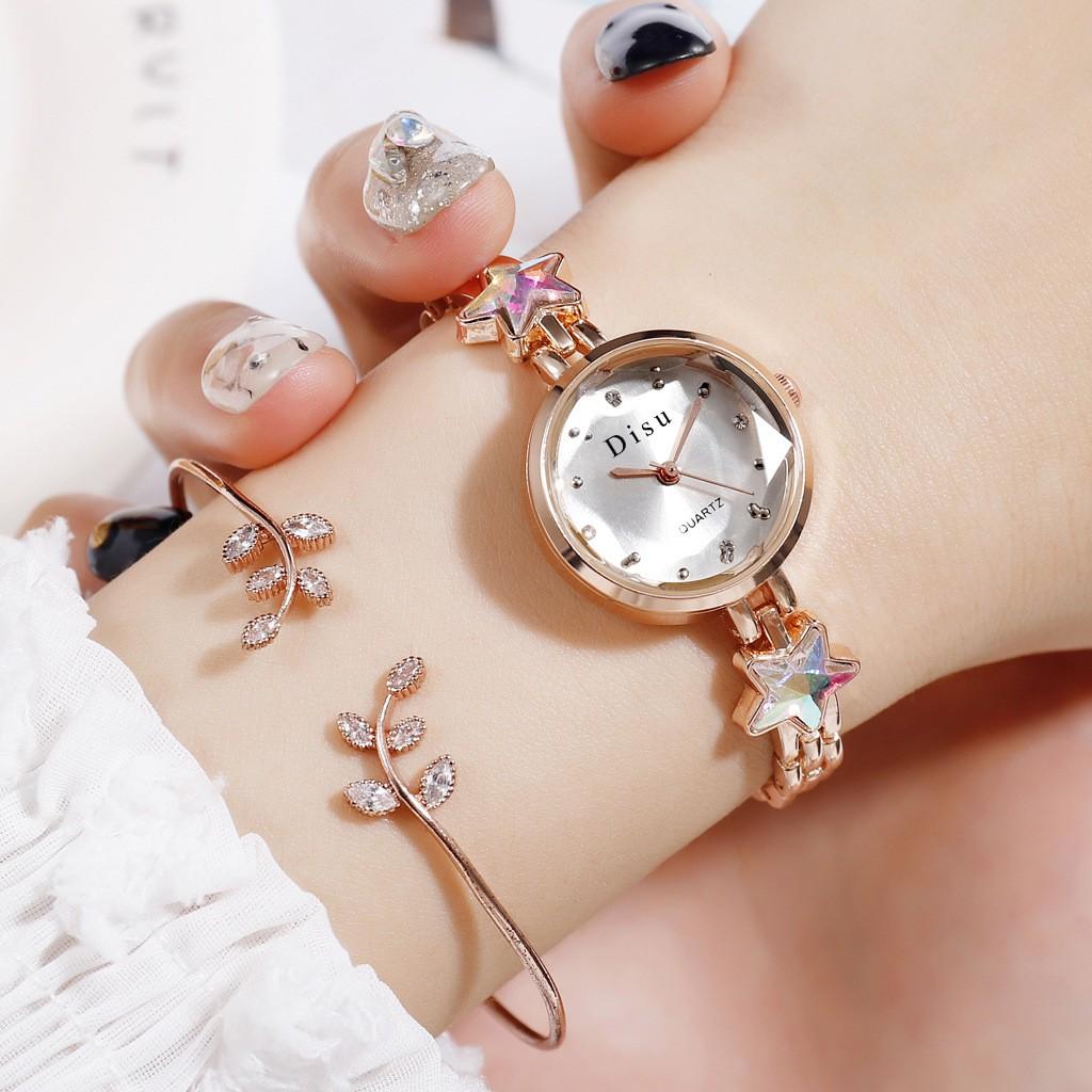 am Tangan Wanita Creative Small Strap Diamond Ladies Quartz Watch