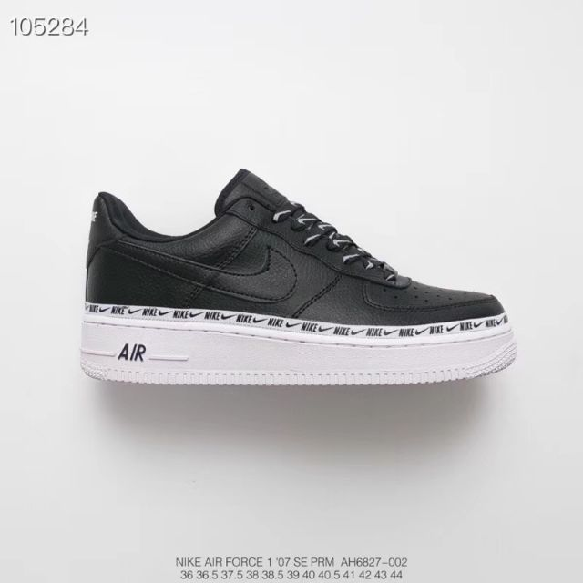 pretty nice 69464 a6095 Nike Air Force 1  07 SE Premium Black White Men Sneaker Shoe   Shopee  Malaysia