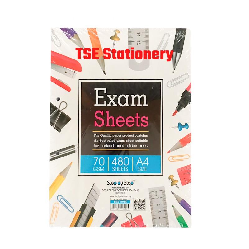 SBS A4 70gsm 480Sheets Test Pad | Test Sheet | Exam Pad | Foolscap Paper | Ruled Paper l Kertas Kajang