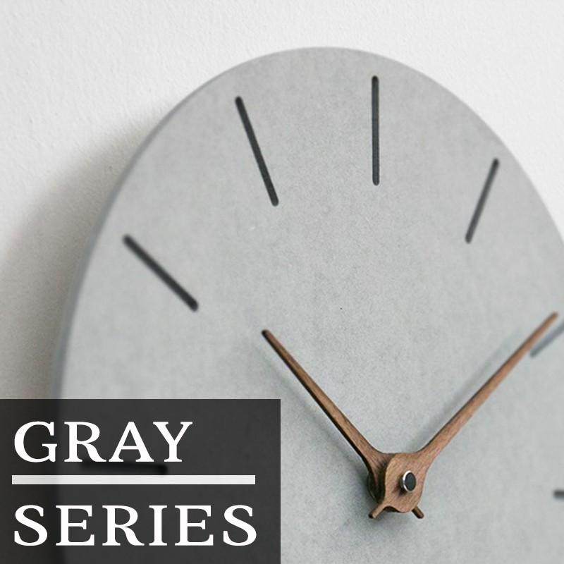 29cm Round Nordic Decorative Grey Wall Clock Modern Design Kayu Nordic Jam Dinding Minimalis Kelabu