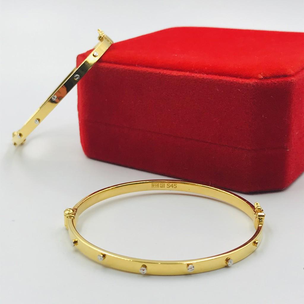 Gelang Emas Oro Italia Design/Oro Italia Design Bangle (Emas 916)