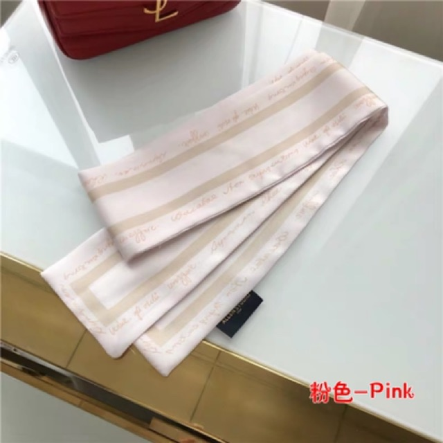 Korean multifunctional small scarf or Bow 春夏领巾丝巾小长条韩国小丝巾女百搭多功能装饰网红同款发带丝带