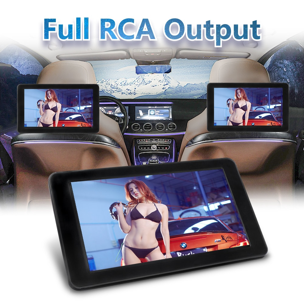 9 Inch TFT Digital LCD Screen Car Headrest DVD Player Monitor
