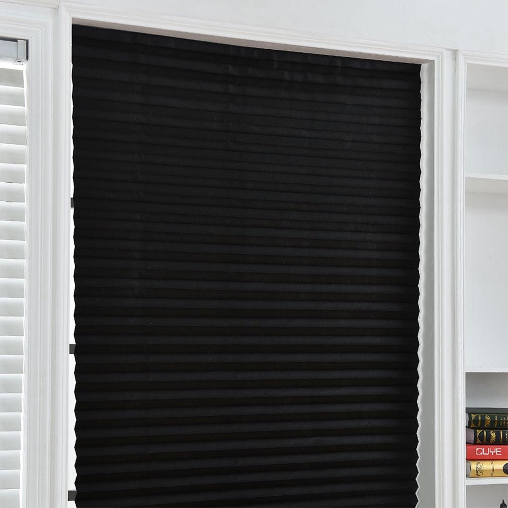 NewTemporary Blackout Window Curtain Shade Pleated Blind