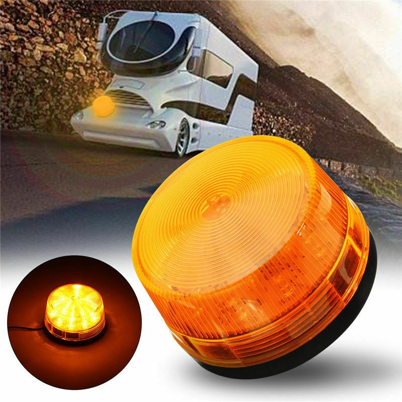Car Truck RV Roof Top Warning Flash Beacon Strobe Emergency Alarm Light Amber