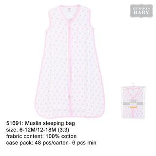 info for 28764 1a0ba Hudson Baby Muslin Sleeping Bag Pink Fox - 51691