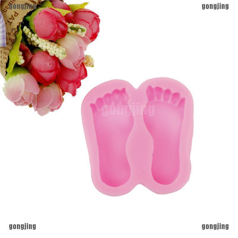 1pc Baby Foot Silicone Molds Fondant Cake Decorating Tools Silicone Soap Molds /&