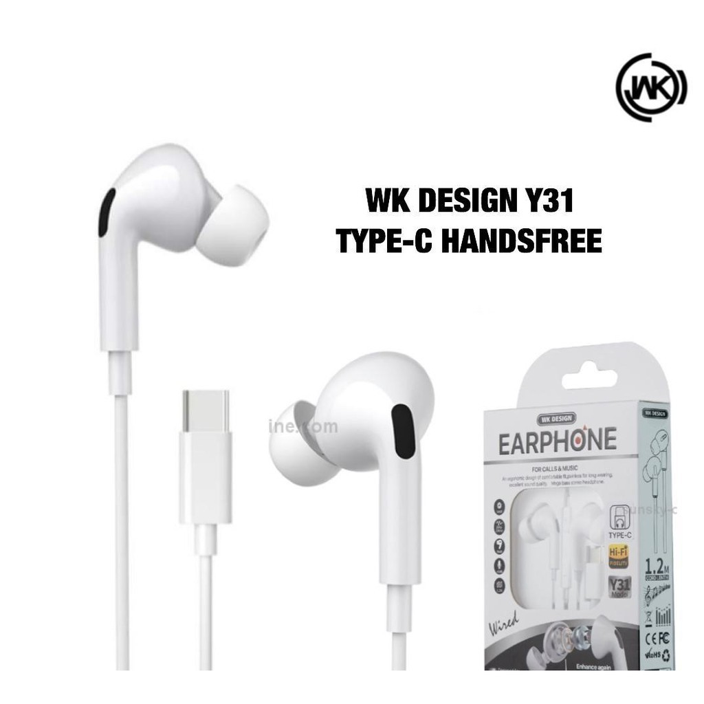 WK DESIGN Y31 HIFI SOUND EARPHONE (3.5MM)