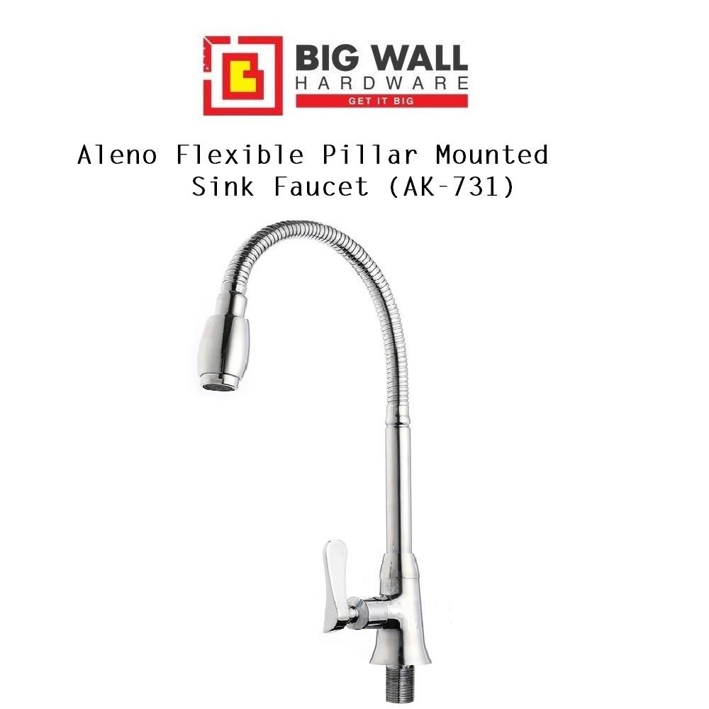 Aleno Flexible Pillar Mounted Sink Tap Faucet AK731