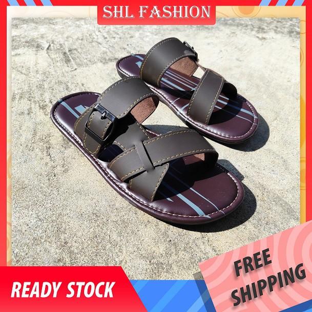 SHL Boy's Sandal Kasut Budak Lelaki PU Leather  Casual Kid's Slipper size 1-5【儿童拖鞋】-5104