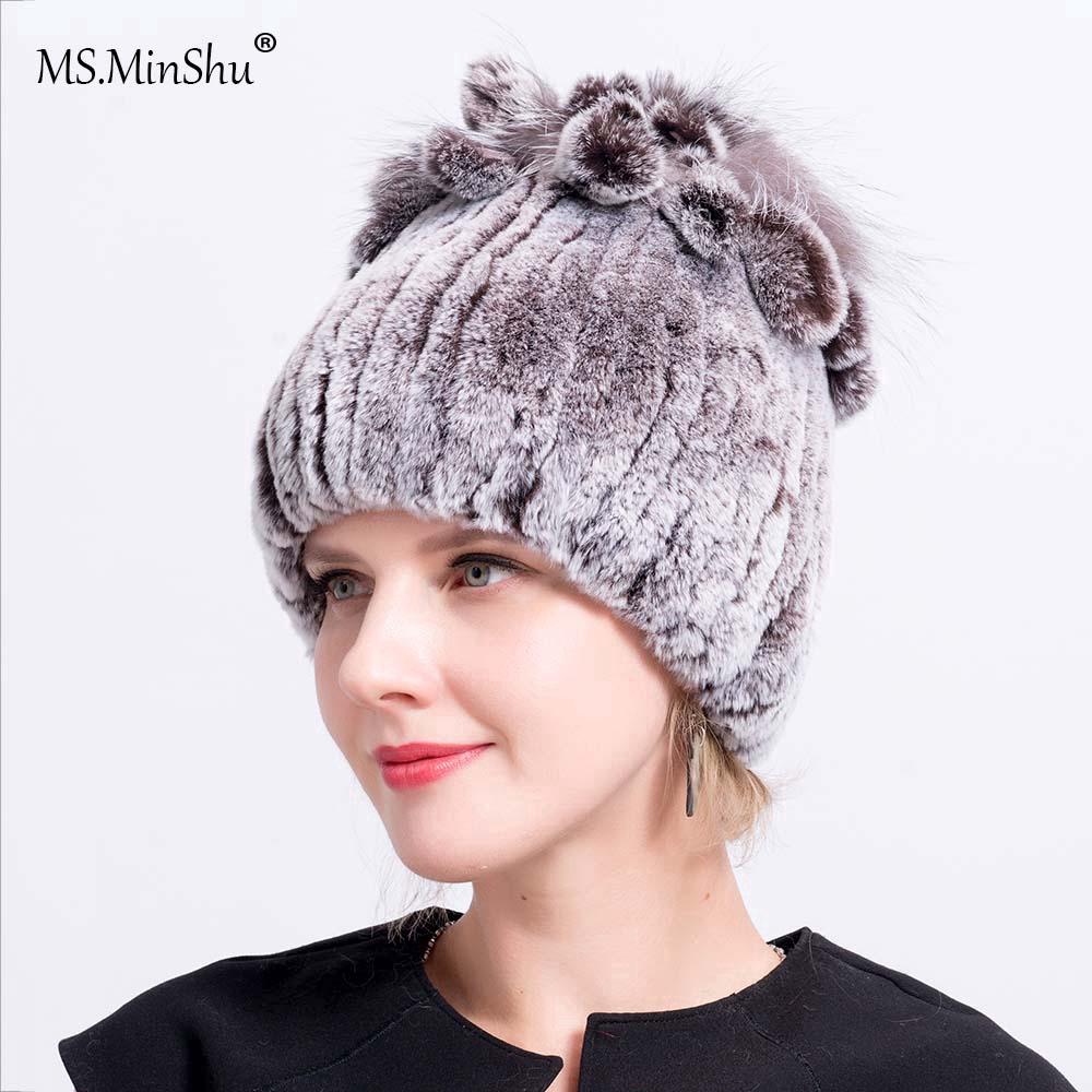 317e5edf69cd7 Lady's Cap Hand Knitted Mink Fur Cap Women Hat Mink Fur Hat Winter Warm Hat    Shopee Malaysia