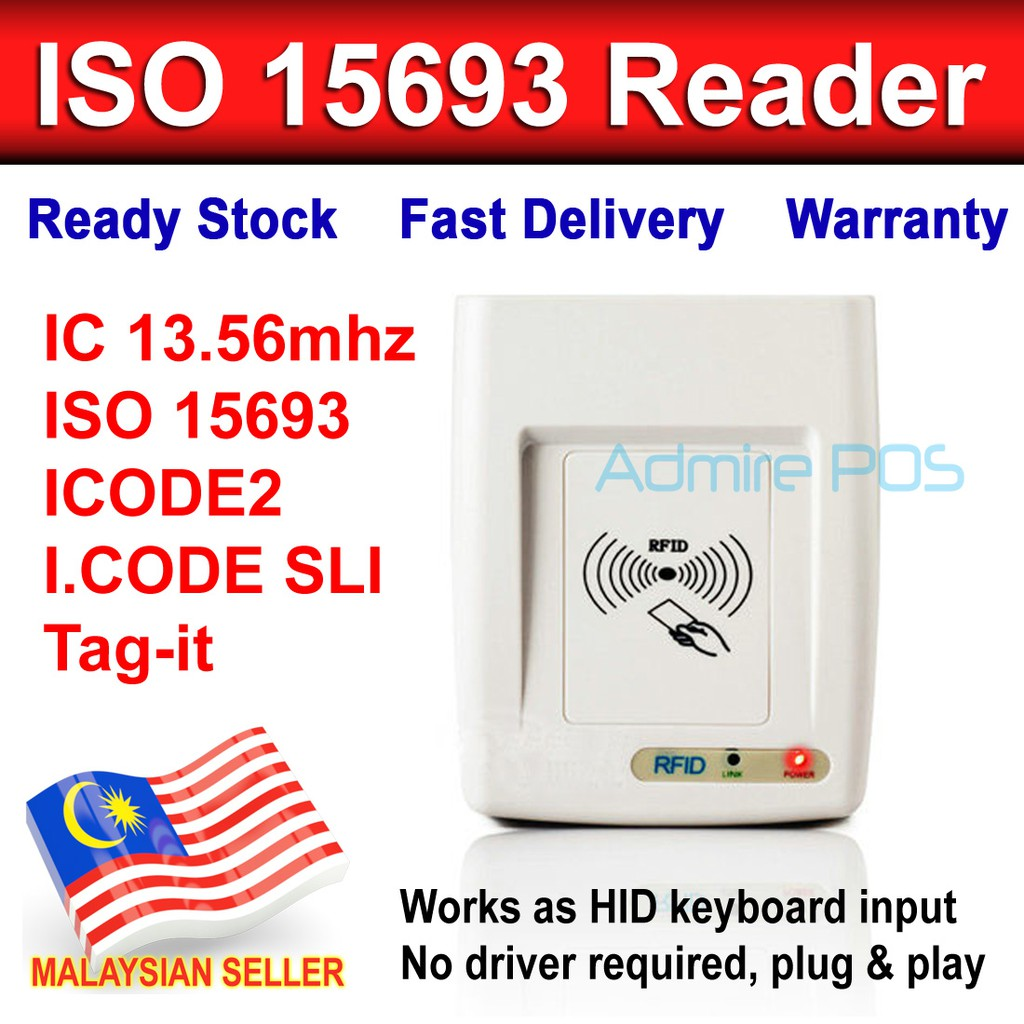 ICODE2 I.CODE SLI IC ISO 15693 Protocol Card UID Serial Number Reader  13.56mhz