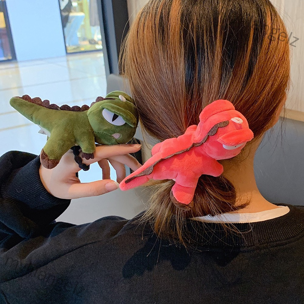 Mylilangelz Kid Girl Hair Rope Cute Dinosaur Elastic Rubber Band Ponytail Headwear Headdress