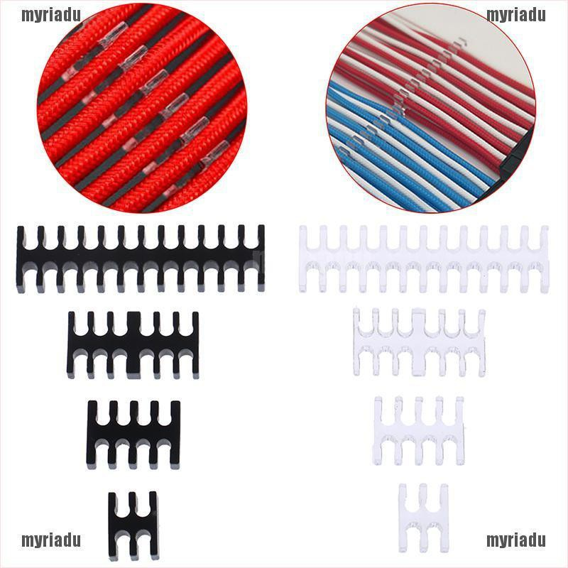 【MRU】Cable Comb/Clamp/Clip/Dresser For 2.5-3.0mm 4/8/12/24 Pin Sleeving Cables
