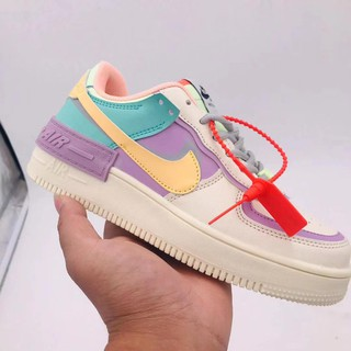 Nike Air Force 1 Shadow Af1 Macaron Deconstruction Function Splice