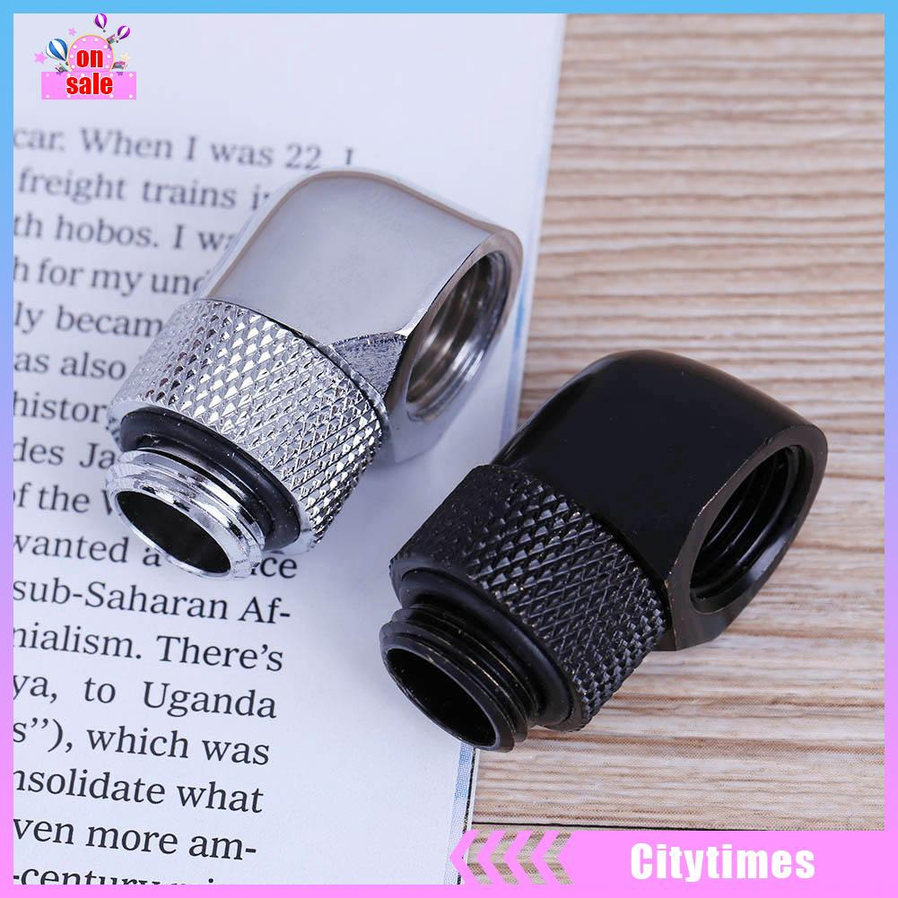 G1//4 Inner Outer Thread 90 Degree Rotary PC Water Cooling Tube Connector Fitting
