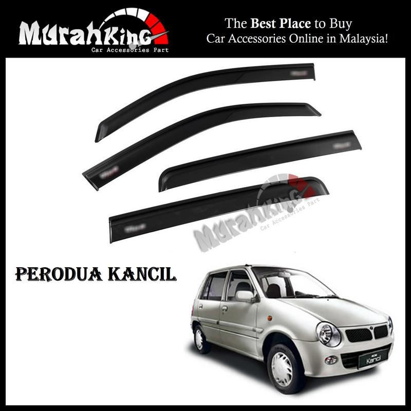 Air Press Car Door Visor Anti UV Light 7cm (4PCS/SET) for Perodua Kancil