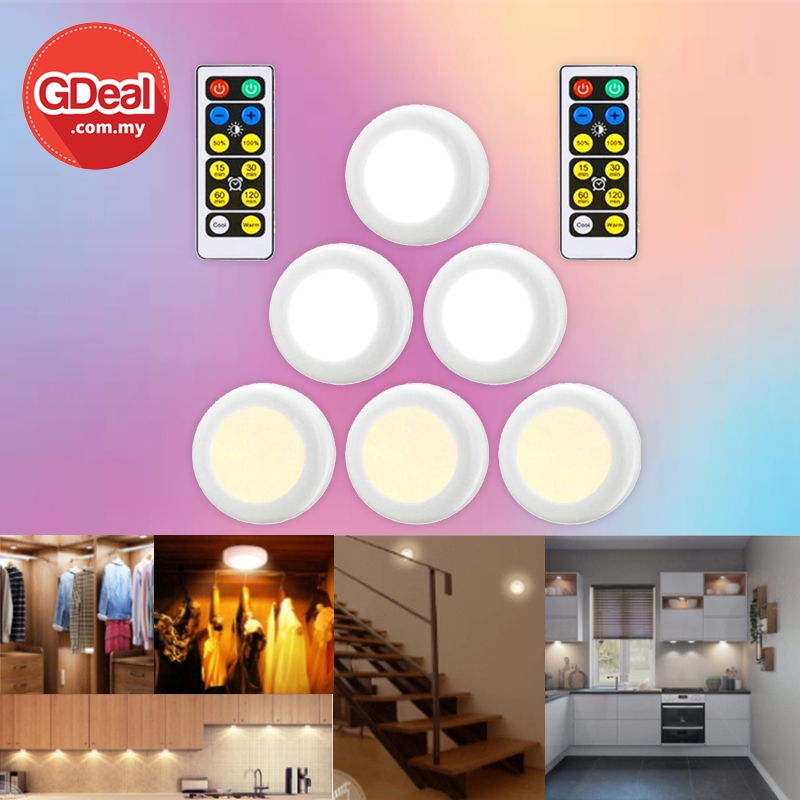GDeal 3 Colours Cordless Lights Bulb Lamp For Room Makeup Mirror Kitchen Lampu لمڤو
