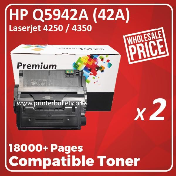 2 unit HP Q5942A / 42A / Q5942X / 42X High Quality Compatible Toner Cartridge