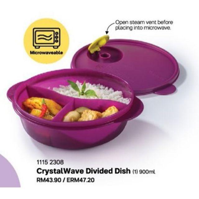 [HOT ITEMS] Tupperware CrystalWave Divided Dish 900ml