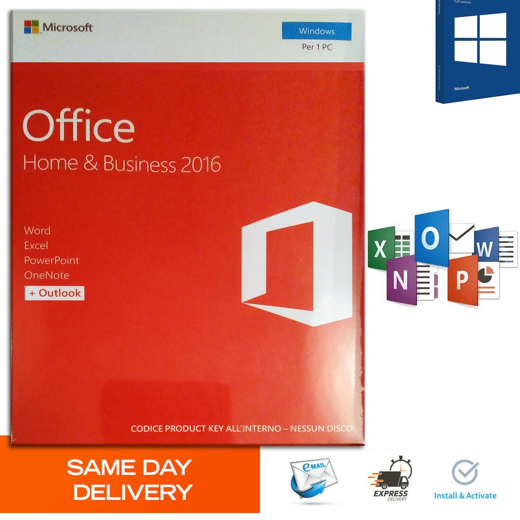 Microsoft Office 2016 Home and Business Product Key   Genuine License