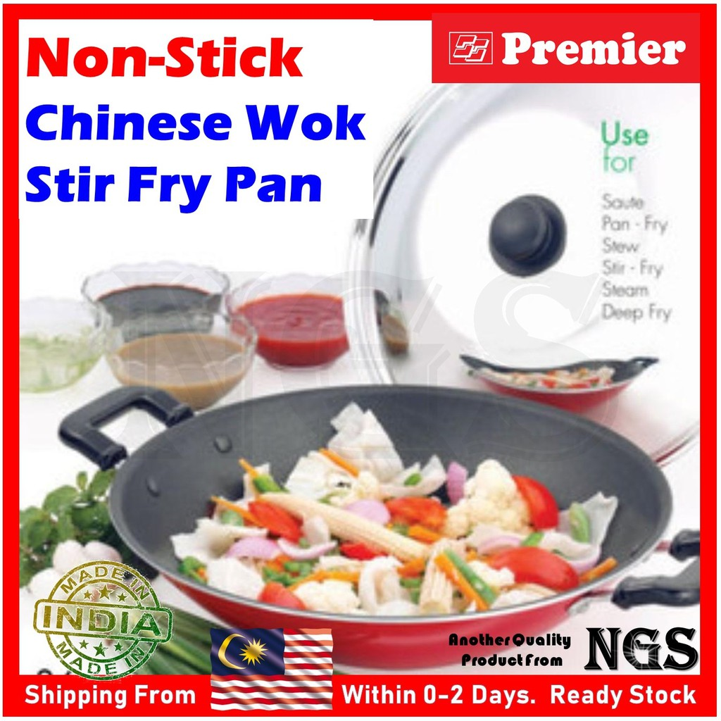 "Kitchen Cook Small 6/""//16cm or 12/""//34cm Cooking Wok Stir Fry Pan Saucepan"