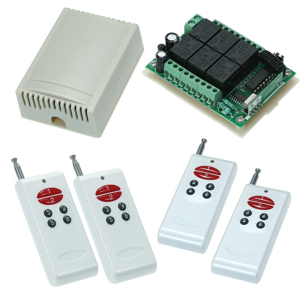 433Mhz DC 12V 6CH Channel Universal 10A Relay Wireless RF Remote Control Sw